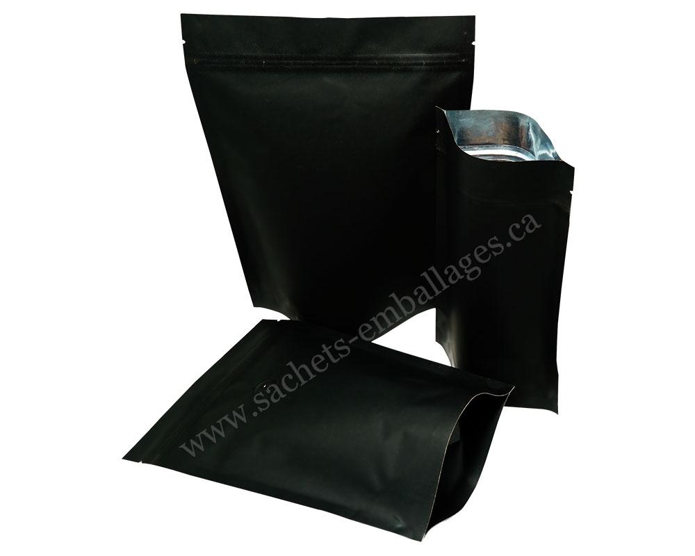 Pochettes debout en papier noir