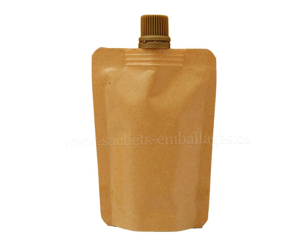 Sachet à bouchon en papier marron