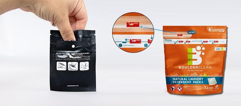 Pochettes personnalisée avec glissière resistante aux enfants