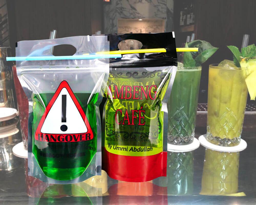 Sachet debout pour jus de fruit personnalisé par impression digitale