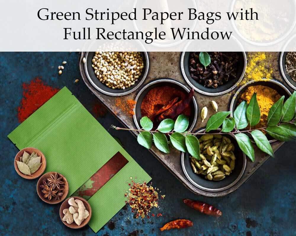 Sachets en papier avec fenêtre rectangulaire personnalisés par étiquettage