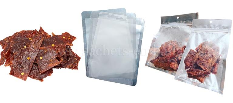 Emballages des produits saccadés