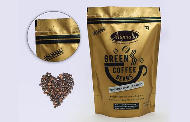 Pochette debout personnalisée pour café et marquées au laser