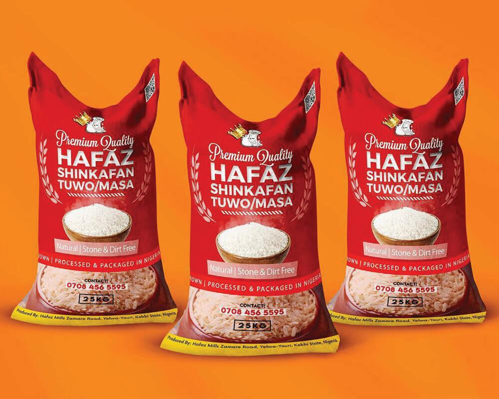 Emballages de riz