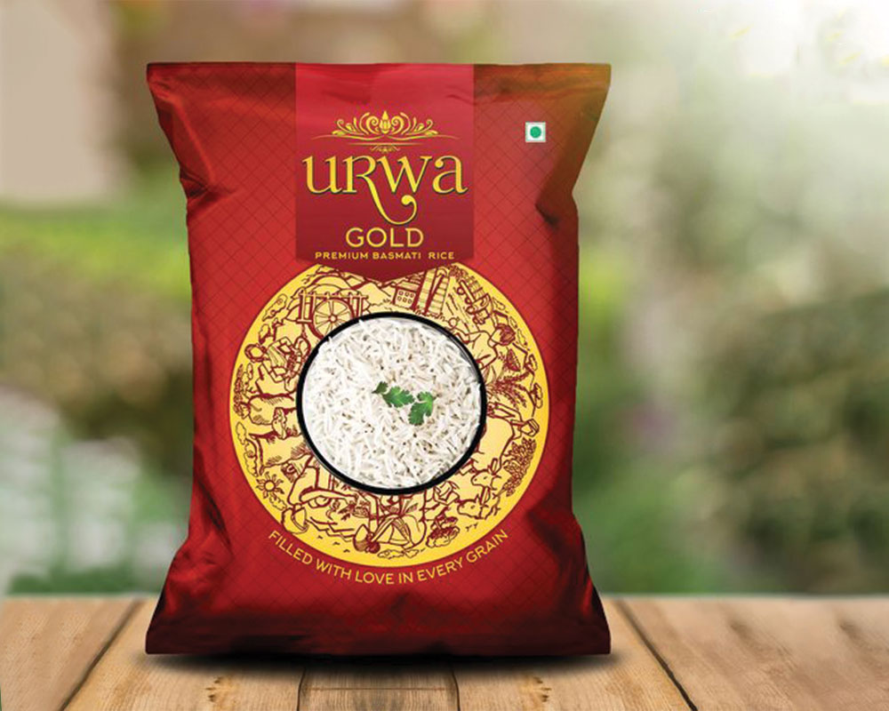 Urwa Gold Rice Packaging