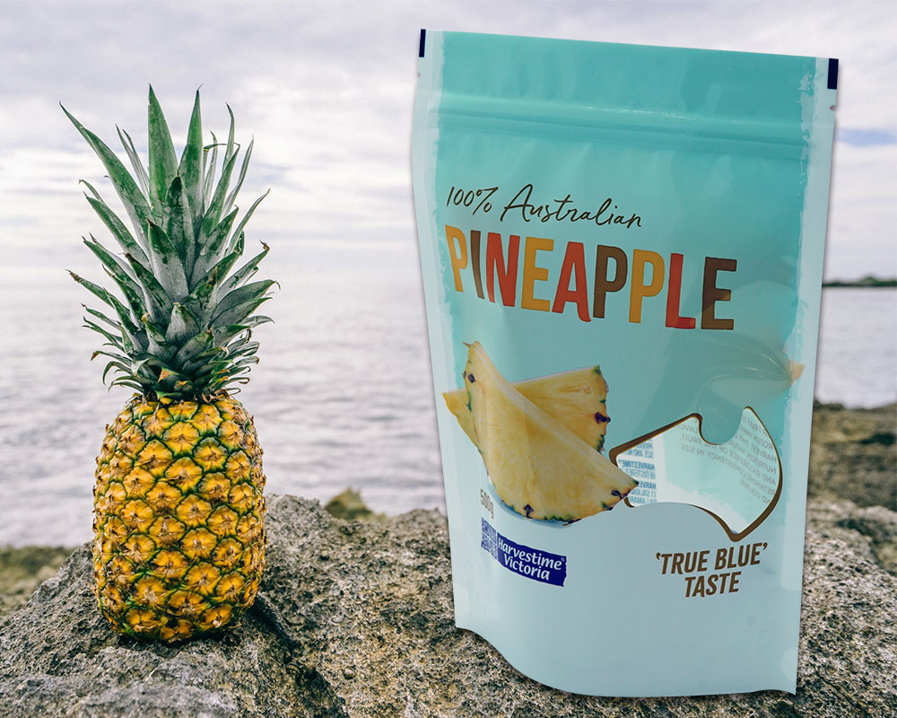 Emballage d'ananas sec