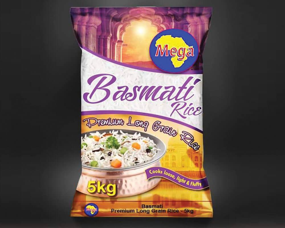 Emballage de riz basmati