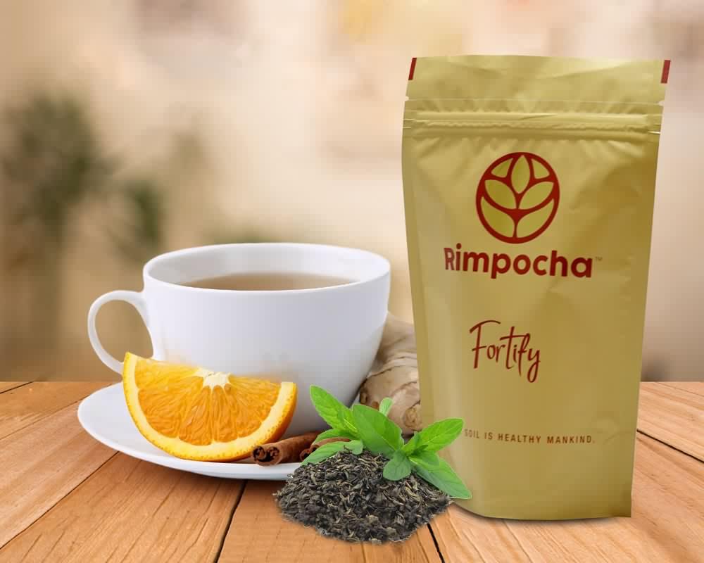emballage de thé énergétique